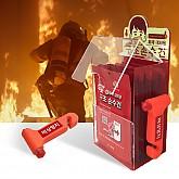 캐릭터 화재 대피함 세트 3(화재대피용 구조손수건, 비상망치)